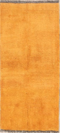 Gabbeh Shiraz Persian Orange Wool Rug 4x5