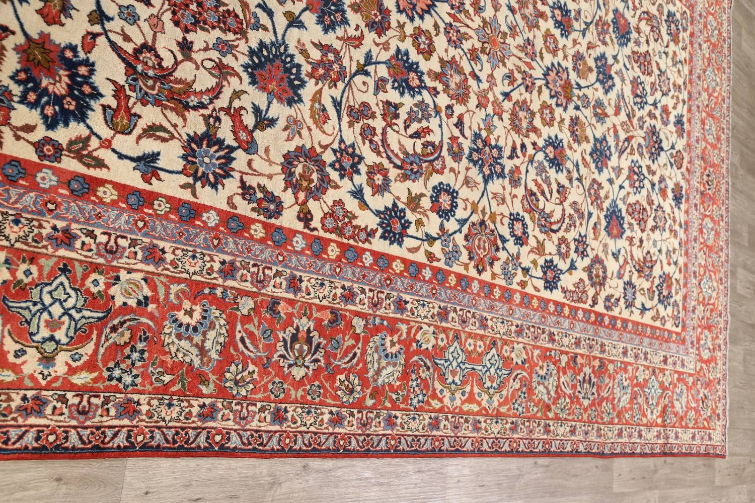 Floral 9x13 Isfahan Persian Area Rug image 13