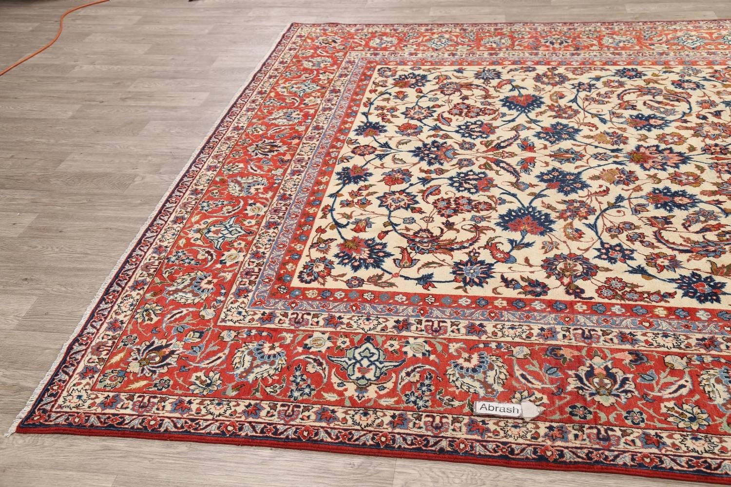 Floral 9x13 Isfahan Persian Area Rug image 17