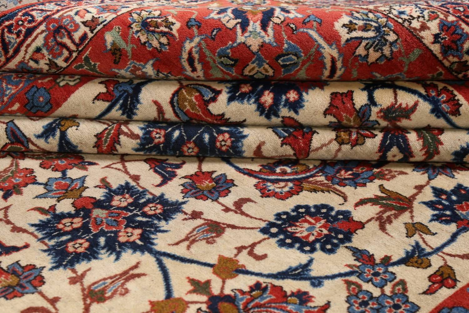 Floral 9x13 Isfahan Persian Area Rug image 20