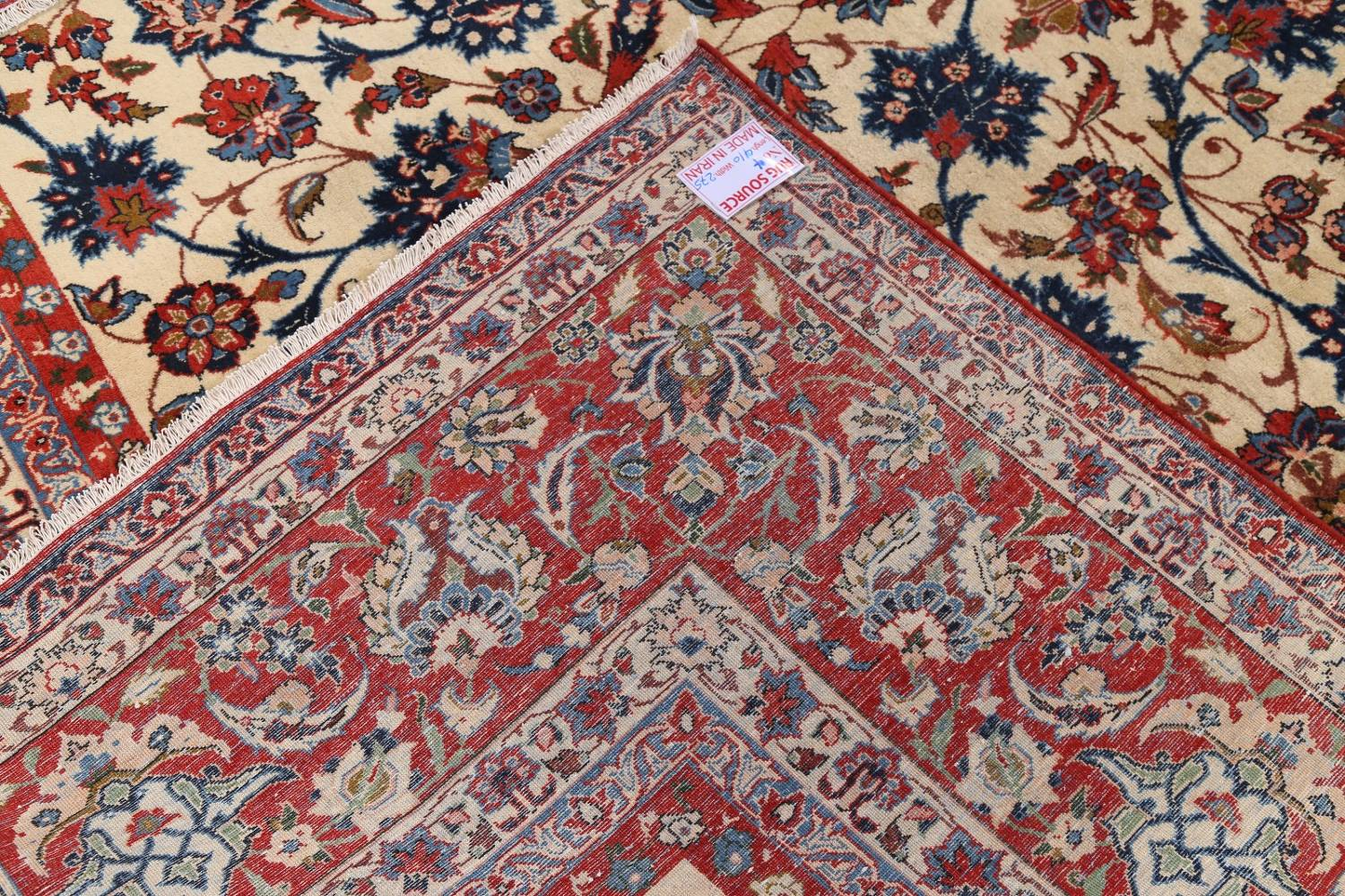 Floral 9x13 Isfahan Persian Area Rug image 24