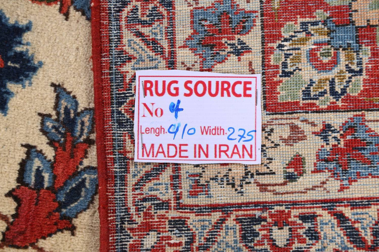 Floral 9x13 Isfahan Persian Area Rug image 25