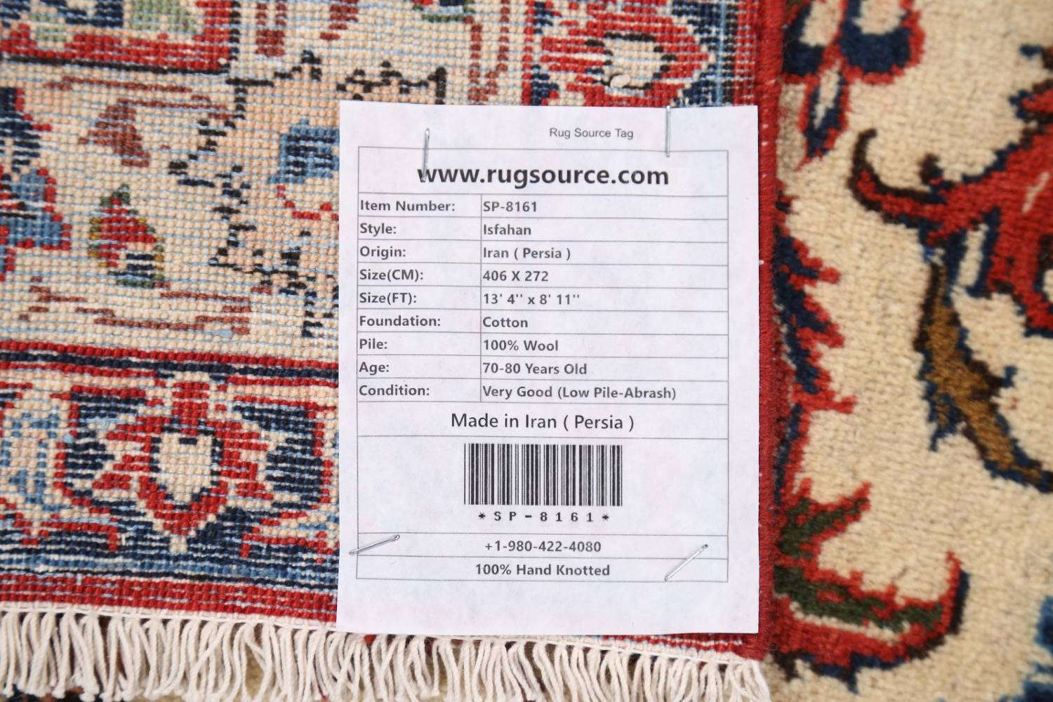 Floral 9x13 Isfahan Persian Area Rug image 27