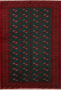 Geometric 7x10 Turkoman Persian Area Rug