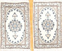 Pair Of 1x2 Nain Isfahan Persian Rug