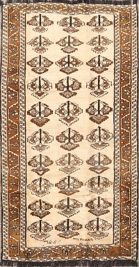 Geometric  4x8 Gabbeh Shiraz Persian Rug Runner