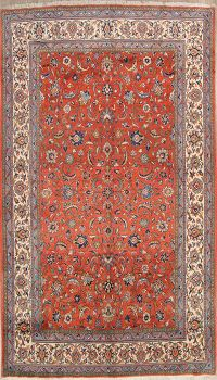 All-Over Floral Vintage 7x10 Sarouk Persian Area Rug