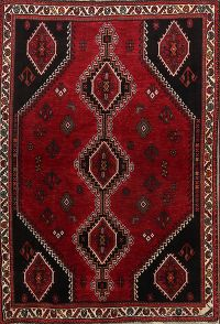Geometric Tribal 4x6 Abadeh Shiraz Persian Area Rug