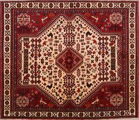 Tribal Geometric 7x6 Abadeh Shiraz Persian Area Rug