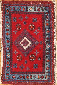 1x2 Ardebil Turkish Oriental Area Rug