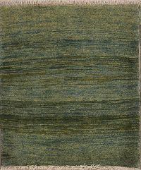 New Thick Pile Green 3x4 Gabbeh Shiraz Persian Area Rug