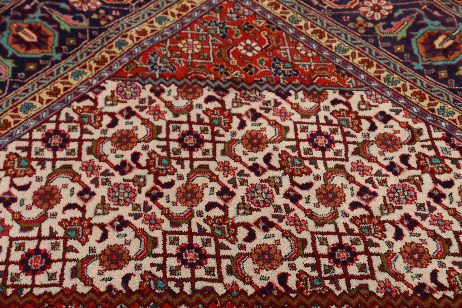Geometric Rust Bidjar Persian Area Rug 10x13