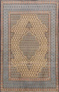 4x7 Kerman Fish Design Persian Area Rug