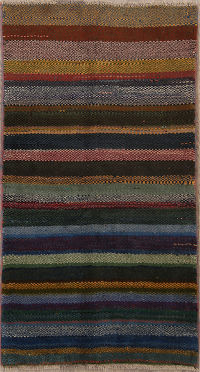 Striped Gabbeh Shiraz Persian Modern Runner Rug 3x6