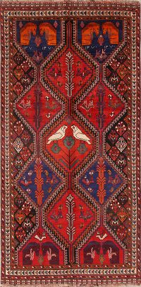 Animal Pictorial 5x10 Shiraz Persian Area Rug
