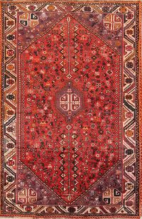 Geometric Tribal Qashqai Shiraz Persian Red/Purple 6x10 Area Rug