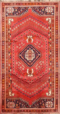 Geometric Tribal Shiraz Qashqai Persian Runner Rug 5x10