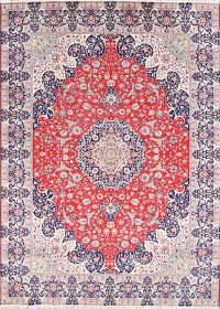 Soft Plush 9x13 Isfahan Machine Made Persian Area Rug