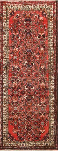 Decorative 4x10 Malayer Hamadan Persian Rug Runner