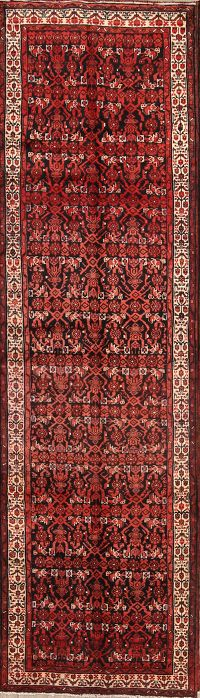 All-Over Floral 4x14 Bakhtiari Persian Rug Runner