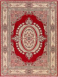 Soft Plush Floral 10x13 Aubusson Persian Area Rug
