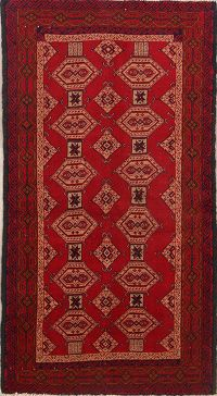 Geometric Tribal 3x6 Balouch Bokara Persian Rug Runner
