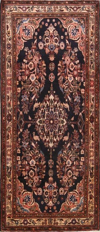Animal Bird Pictorial Floral 4x9 Hamedan Persian Rug Runner