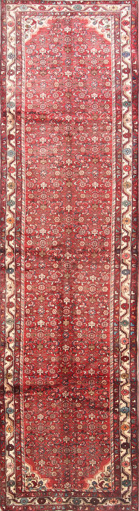 All Over Floral 4x14 Malayer Hamedan Persian Rug Runner
