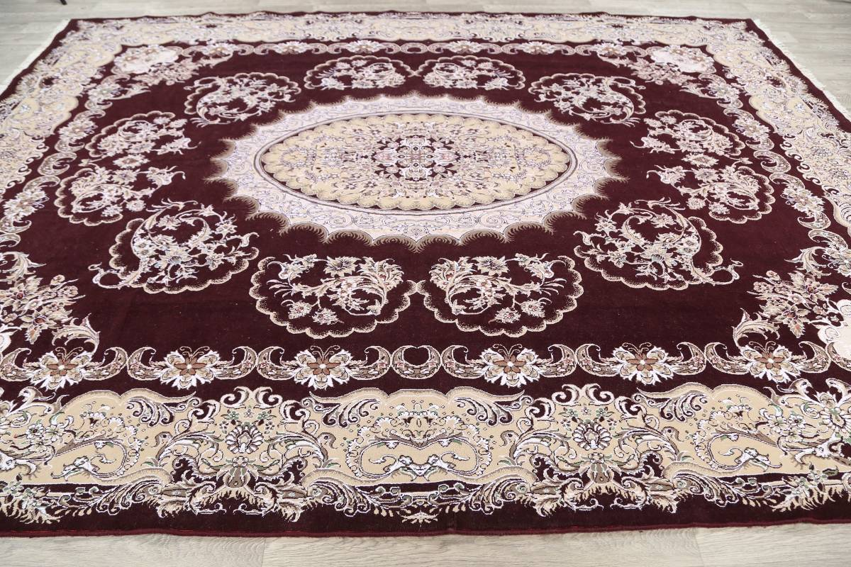 Traditional Floral 10x13 Tabriz Persian Area Rug image 13