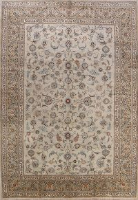All-Over 9x13 Kashan Persian Area Rug
