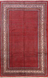 All-Over Botemir Persian 7'x11' Wool Red Area Rug