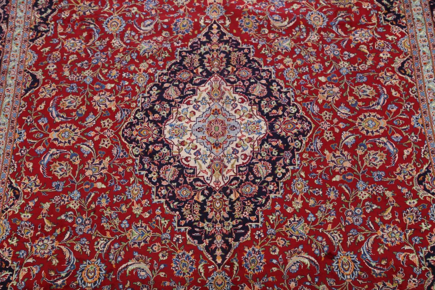 Traditional Floral 10x14 Kashan Persian Area Rug image 4