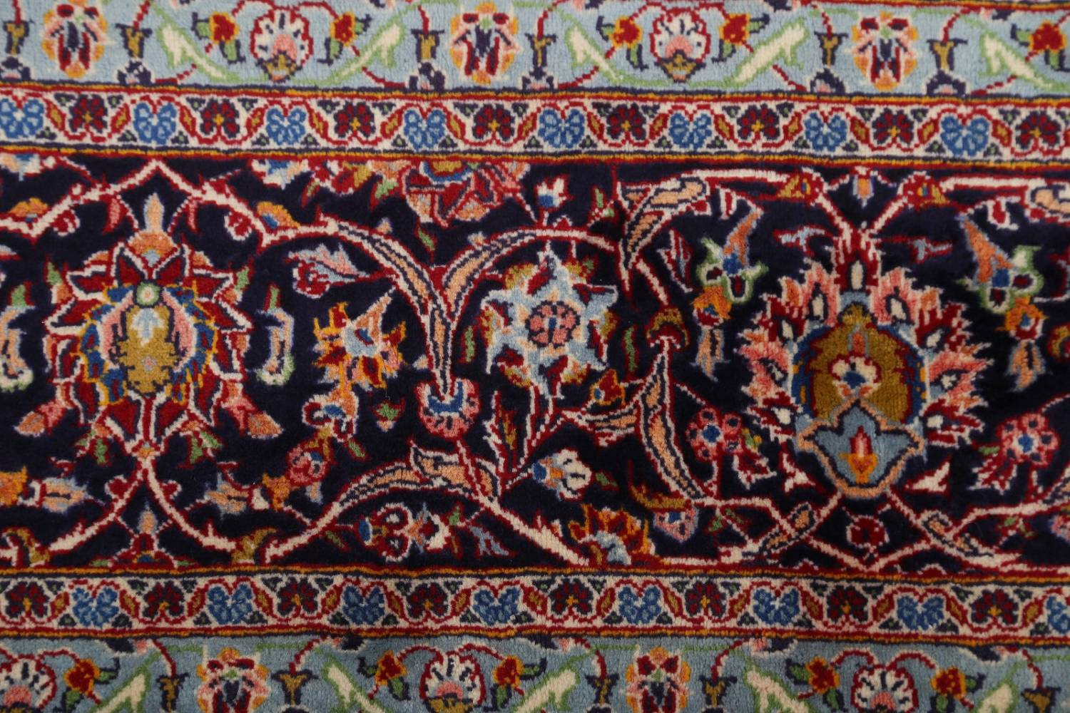 Traditional Floral 10x14 Kashan Persian Area Rug image 7