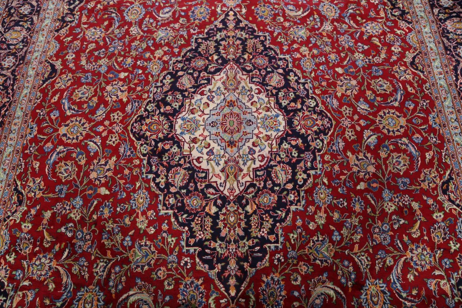 Traditional Floral 10x14 Kashan Persian Area Rug image 10