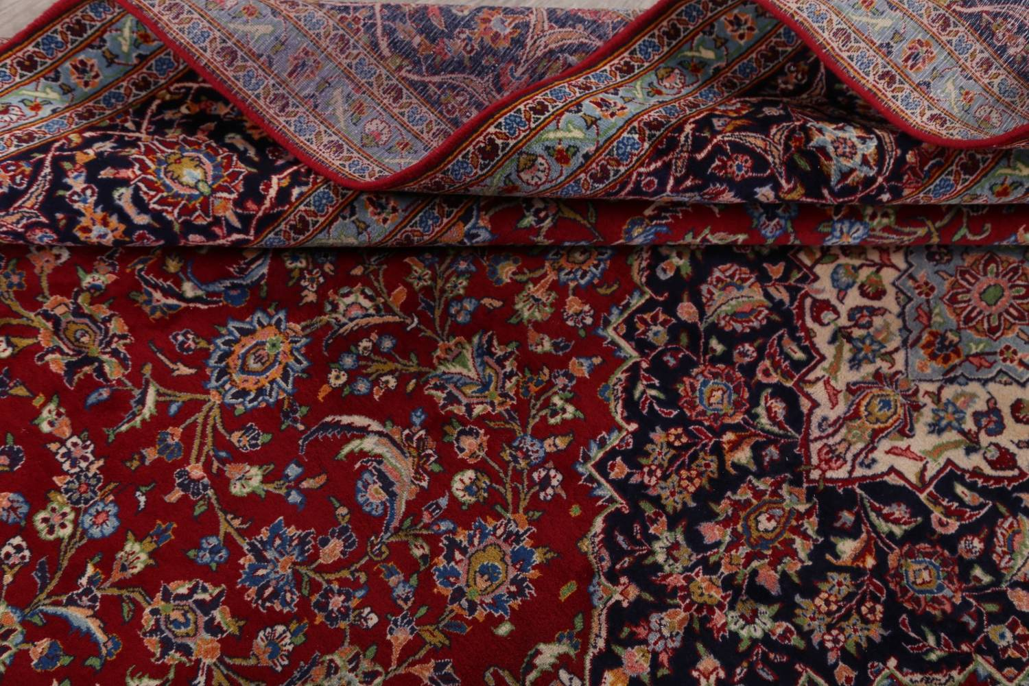 Traditional Floral 10x14 Kashan Persian Area Rug image 17