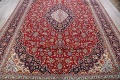 Traditional Floral 10x14 Kashan Persian Area Rug image 8