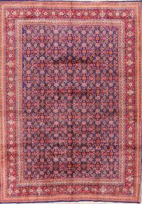 Geometric 9x13 Sarouk Persian Area Rug