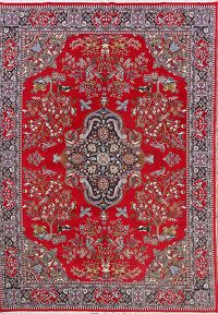 Animal Pictorial Soft Plush 9x13 Kashmar Persian Area Rug