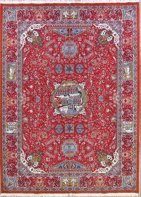 Soft Plush Pictorial 10x13 Kashmar Persian Area Rug