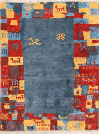 Geometric  Gabbeh Persian Area Rug