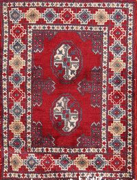Geometric Tribal 2x3 Balouch Bokara Persian Area Rug