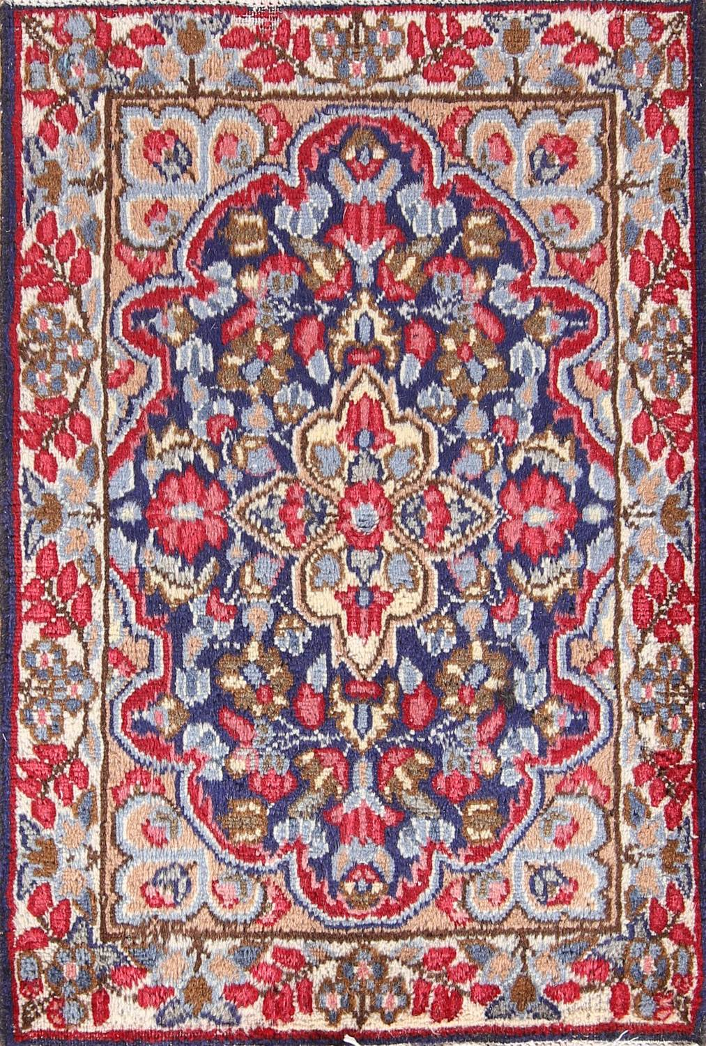 Kerman Persian Hand Knotted 2x3 Wool Rug