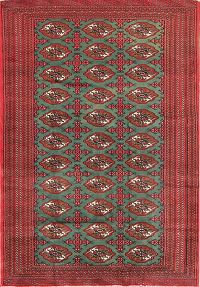 Geometric 4x6 Turkoman Persian Area Rug