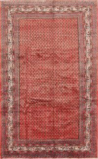 All-Over Boteh Design Botemir Persian Hand-Knotted 6x10 Wool Area Rug