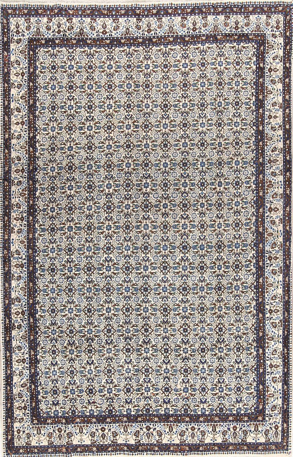 All-Over Floral 7x11 Mood Persian Wool Area Rug image 1