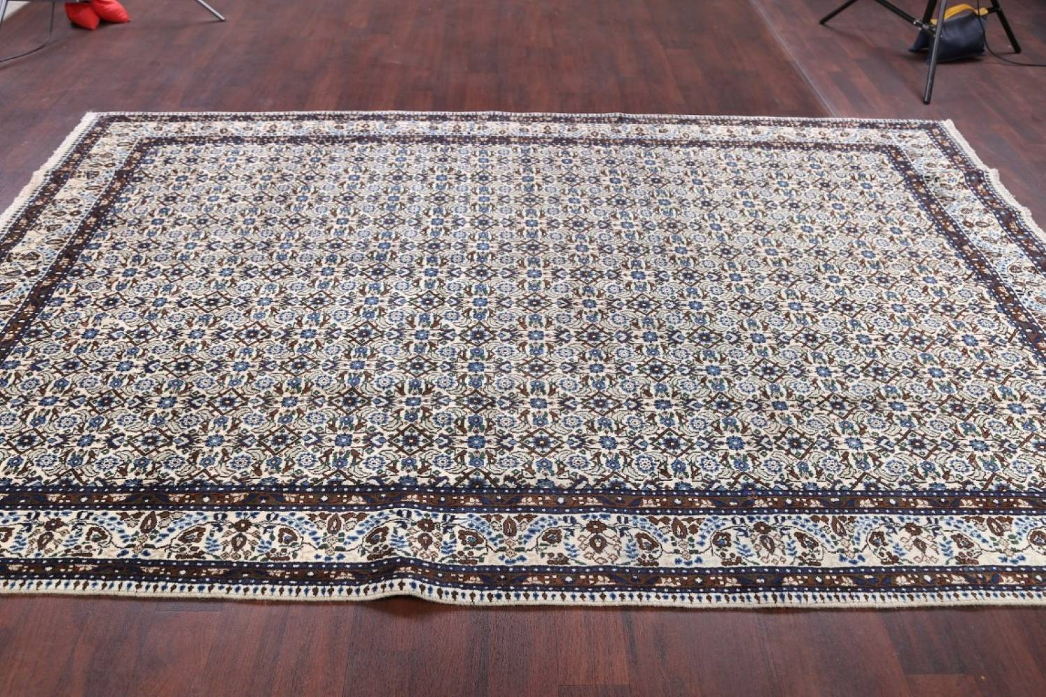 All-Over Floral 7x11 Mood Persian Wool Area Rug image 12