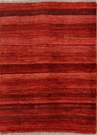 Striped Modern 4x5 Gabbeh Zolanvari Shiraz Persian Area Rug