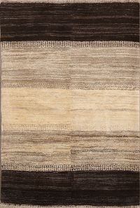 Natural Dye 4x5 Gabbeh Zolanvari Shiraz Persian Area Rug