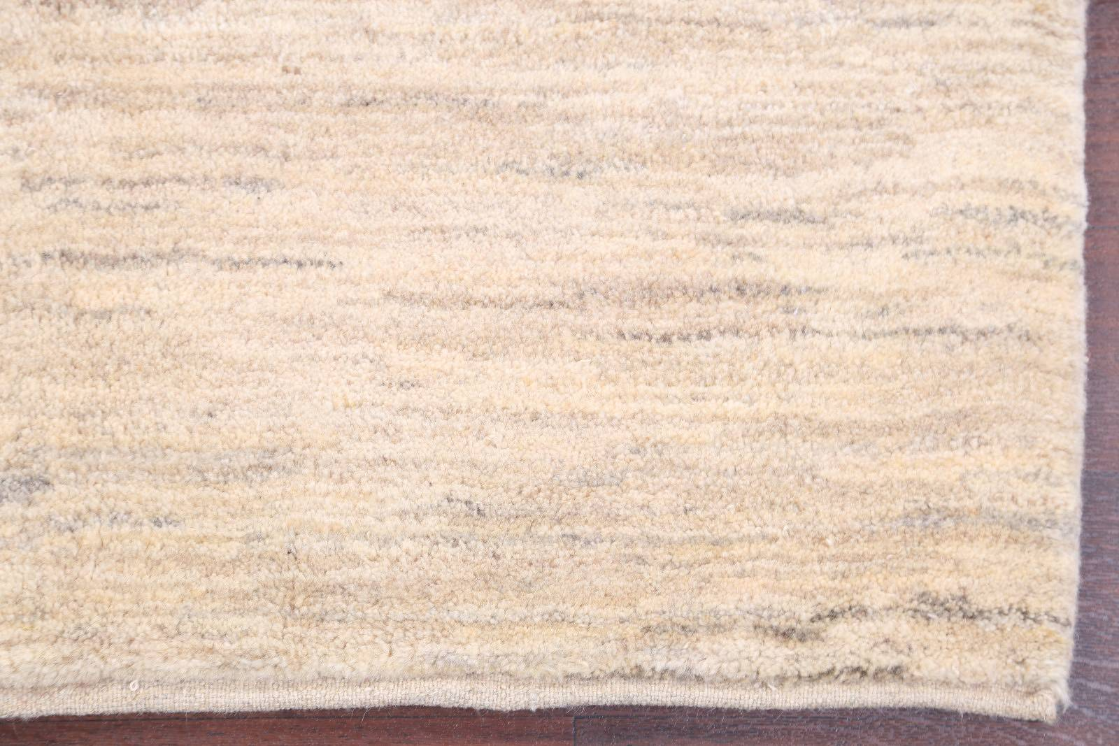 Natural Dye Solid Ivory 3x5 Gabbeh Zolanvari Persian Area Rug
