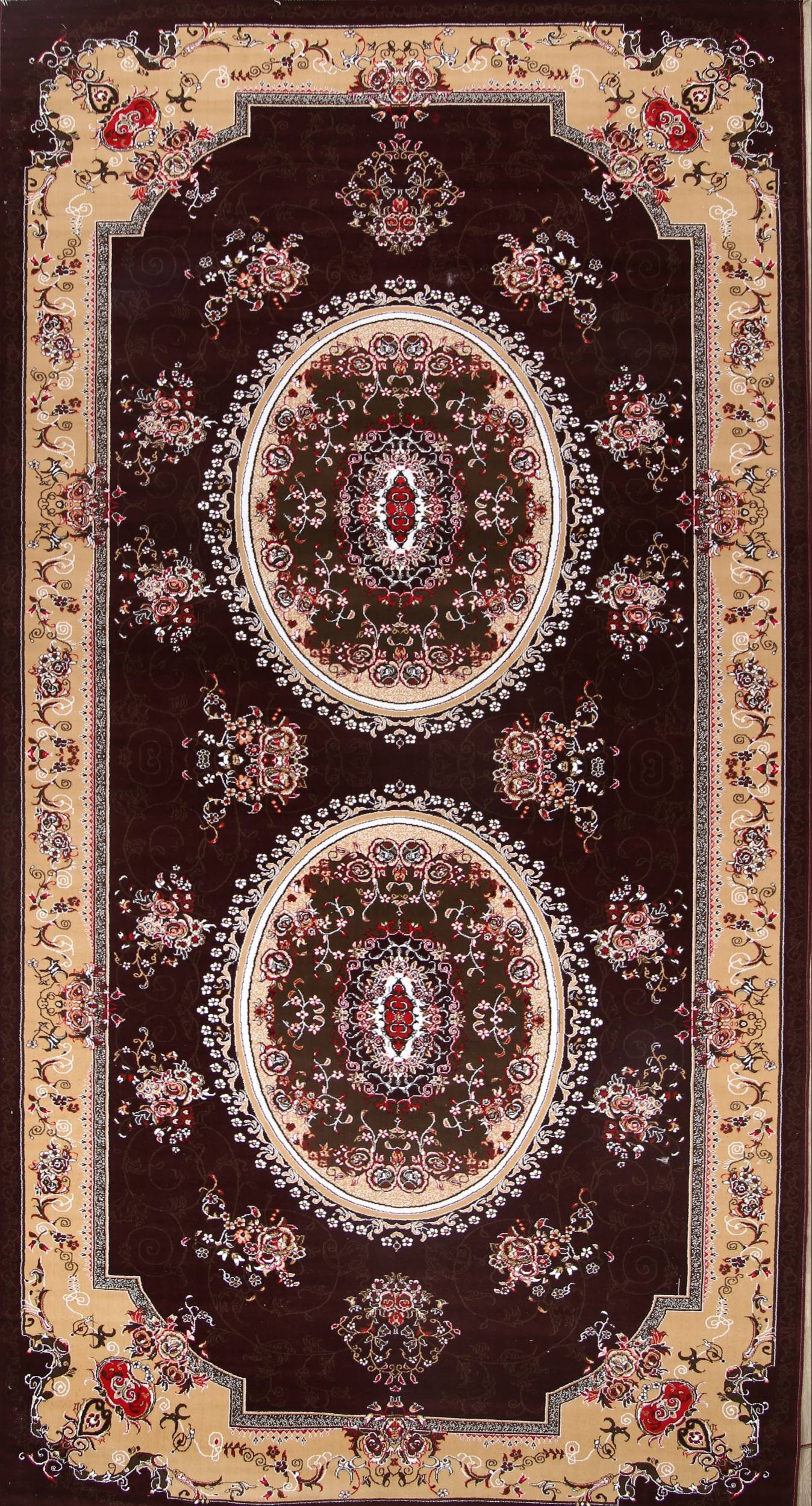 Soft Plush Floral 10x20 Isfahan Persian Area Rug